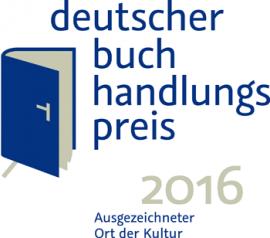 Logo Deutscher Buchandlugspreis 2016