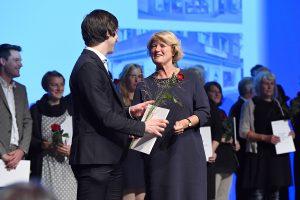 Verleihung des Buchhandlungspreises in Heidelberg 2016. © Bundesregierung / Baumann