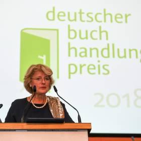 Preisverleihung Deutscher Buchhadlungspreis StM Monika Grütters (BKM) , © Bundesregierung / Zucchi.