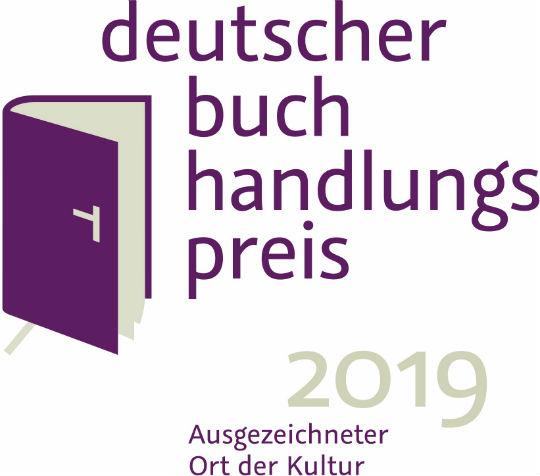 Logo Gütesiegel Deutscher Buchhandlungspreis 2019